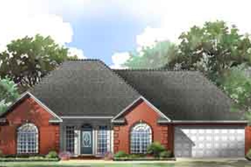 Traditional Exterior - Front Elevation Plan #21-164 - Houseplans.com