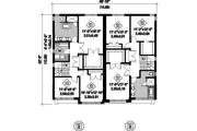 Contemporary Style House Plan - 5 Beds 2 Baths 3385 Sq/Ft Plan #25-4396 Floor Plan - Upper Floor Plan