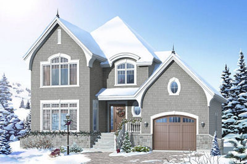 Traditional Exterior - Front Elevation Plan #23-811 - Houseplans.com