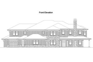 Traditional Exterior - Front Elevation Plan #490-6