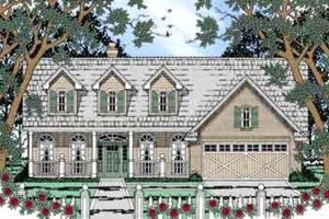 Country Exterior - Front Elevation Plan #42-302