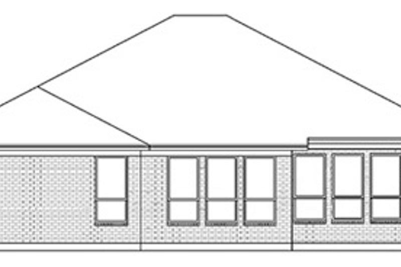 European Exterior - Rear Elevation Plan #84-245 - Houseplans.com