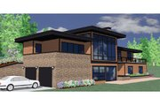 Modern Style House Plan - 5 Beds 3.5 Baths 3113 Sq/Ft Plan #509-2 Exterior - Other Elevation