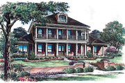 Colonial Style House Plan - 5 Beds 5.5 Baths 5876 Sq/Ft Plan #135-142 Exterior - Front Elevation
