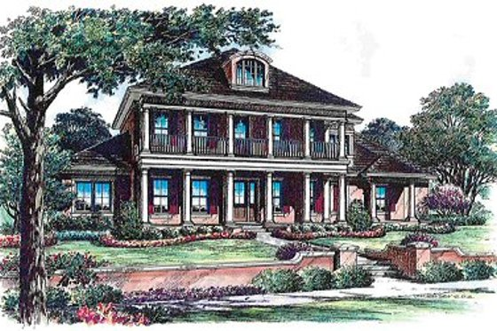 Colonial Exterior - Front Elevation Plan #135-142