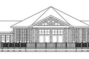 Ranch Style House Plan - 3 Beds 2.5 Baths 2827 Sq/Ft Plan #124-578 Exterior - Rear Elevation