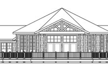 House Plan Design - Ranch Exterior - Rear Elevation Plan #124-578