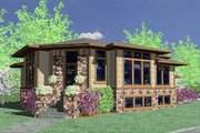 Modern Style House Plan - 4 Beds 3.5 Baths 2747 Sq/Ft Plan #509-1 Exterior - Other Elevation