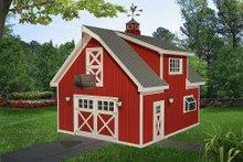 Dream House Plan - Farmhouse Exterior - Front Elevation Plan #932-323