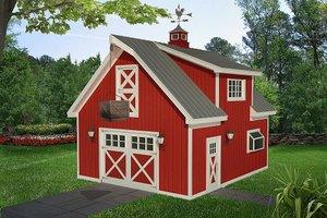 Farmhouse Exterior - Front Elevation Plan #932-323