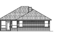 Dream House Plan - Traditional Exterior - Rear Elevation Plan #84-347