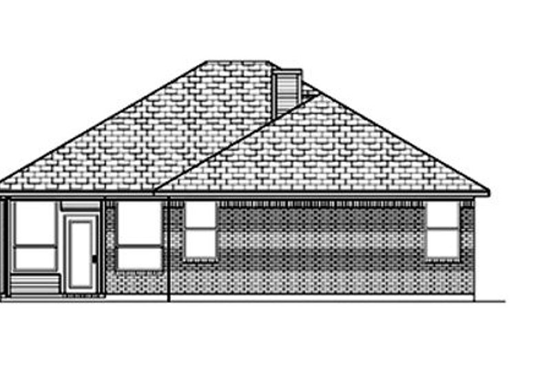 Traditional Exterior - Rear Elevation Plan #84-347 - Houseplans.com