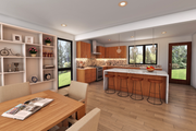 Contemporary Style House Plan - 4 Beds 3.5 Baths 2874 Sq/Ft Plan #48-1019 Interior - Kitchen