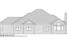 Home Plan - Bungalow Exterior - Rear Elevation Plan #70-985