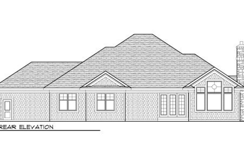 Bungalow Exterior - Rear Elevation Plan #70-985 - Houseplans.com