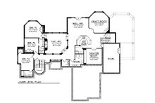 Lower Level floor plan - 6400 square foot European style home
