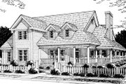 Country Style House Plan - 4 Beds 3.5 Baths 2380 Sq/Ft Plan #20-183 Exterior - Front Elevation