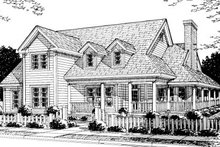 Dream House Plan - Country Exterior - Front Elevation Plan #20-183