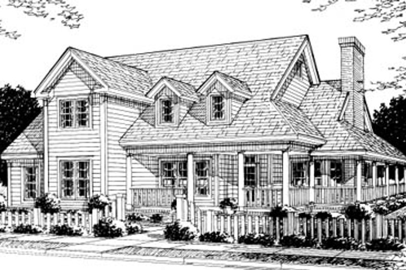 Country Exterior - Front Elevation Plan #20-183