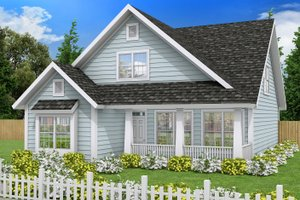 Cottage Exterior - Front Elevation Plan #513-2076