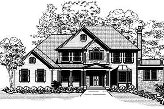 Traditional Exterior - Front Elevation Plan #9-106