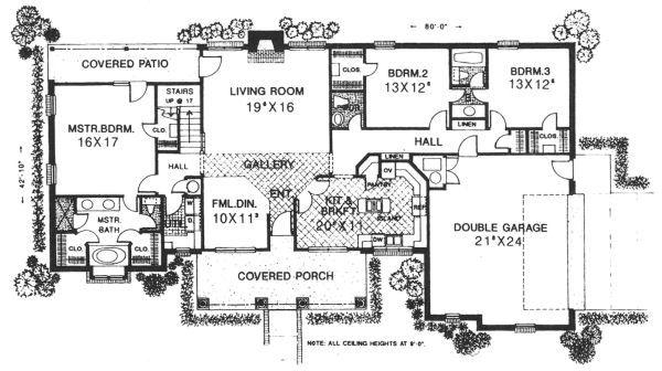 Country Floor Plan - Main Floor Plan Plan #310-608