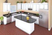 European Style House Plan - 3 Beds 2 Baths 1641 Sq/Ft Plan #21-339 Interior - Kitchen