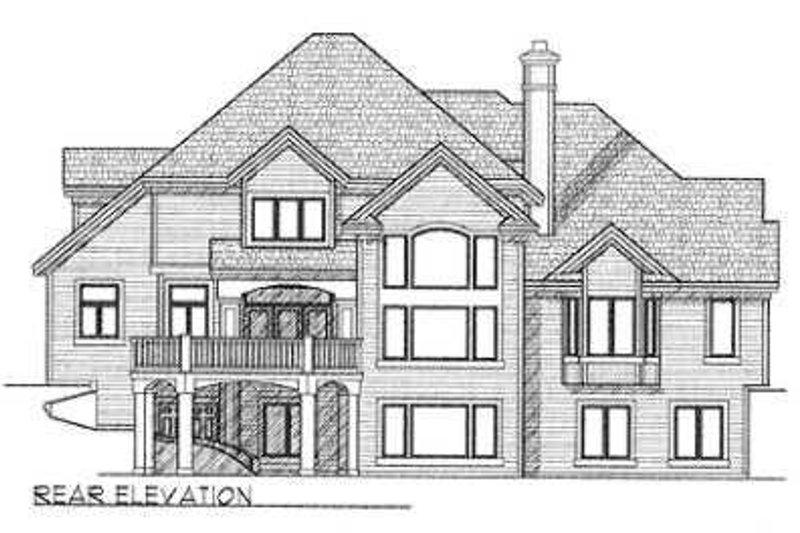 European Exterior - Rear Elevation Plan #70-545 - Houseplans.com