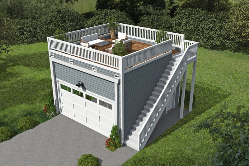 Home Plan - Contemporary Exterior - Front Elevation Plan #932-111