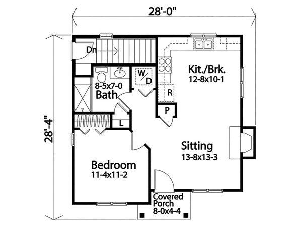 Dream House Plan - Cottage Floor Plan - Main Floor Plan #22-595