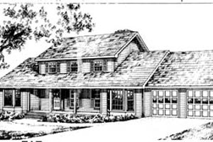 Country Exterior - Front Elevation Plan #10-258