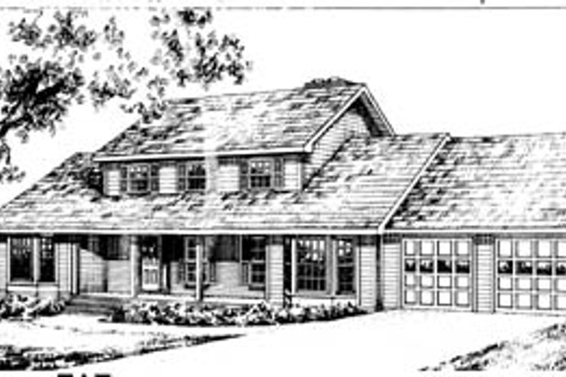 Country Style House Plan - 4 Beds 2.5 Baths 2969 Sq/Ft Plan #10-258 Exterior - Front Elevation