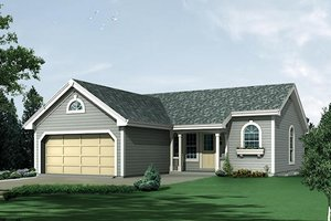 House Design - Ranch Exterior - Front Elevation Plan #57-382