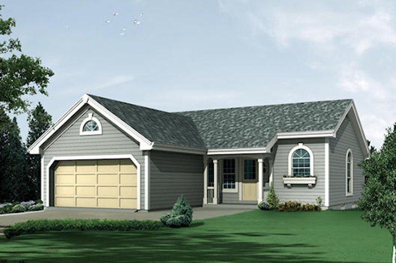 Ranch Exterior - Front Elevation Plan #57-382 - Houseplans.com