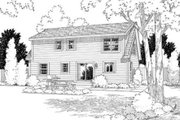 Colonial Style House Plan - 4 Beds 3 Baths 1775 Sq/Ft Plan #312-588