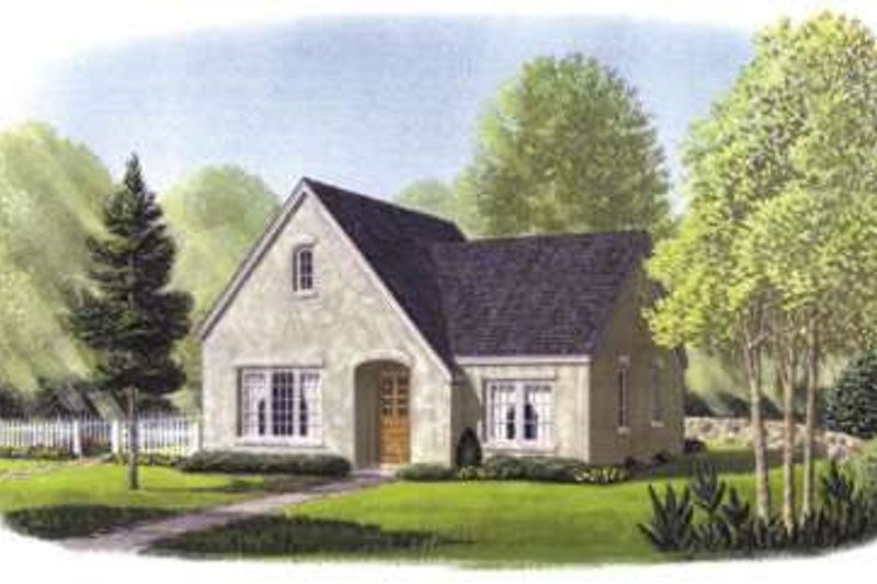European Exterior - Front Elevation Plan #410-132 - Houseplans.com