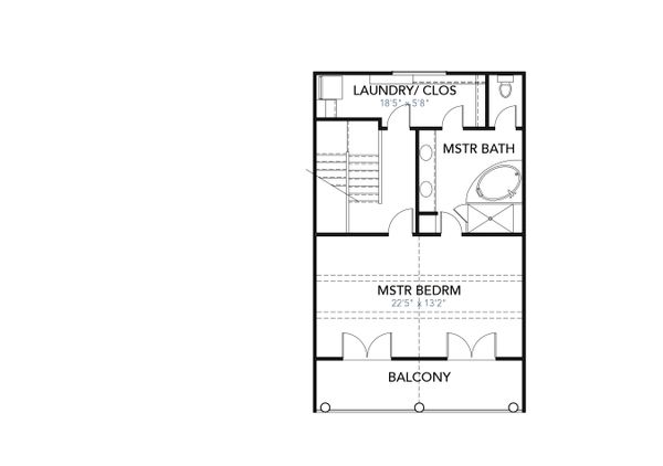 Cabin Floor Plan - Upper Floor Plan Plan #80-204