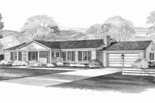 Ranch Exterior - Front Elevation Plan #72-296