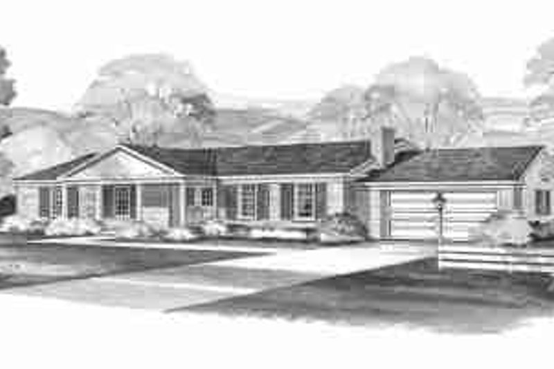 Ranch Exterior - Front Elevation Plan #72-296 - Houseplans.com