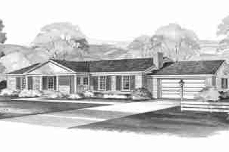House Blueprint - Ranch Exterior - Front Elevation Plan #72-296