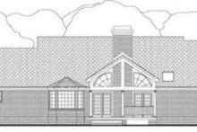 House Plan Design - Ranch Exterior - Rear Elevation Plan #406-168