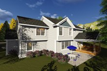 Craftsman Exterior - Rear Elevation Plan #70-1250