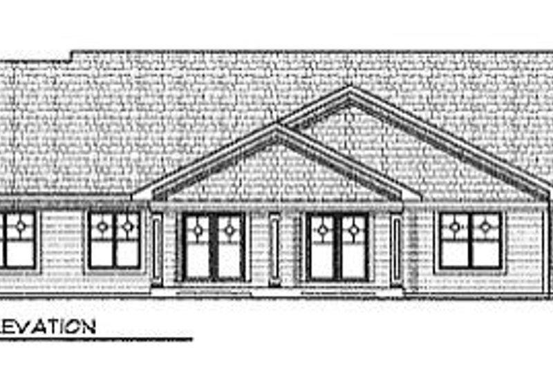 Traditional Exterior - Rear Elevation Plan #70-246 - Houseplans.com