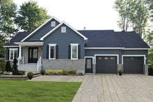 Ranch Exterior - Front Elevation Plan #23-2615