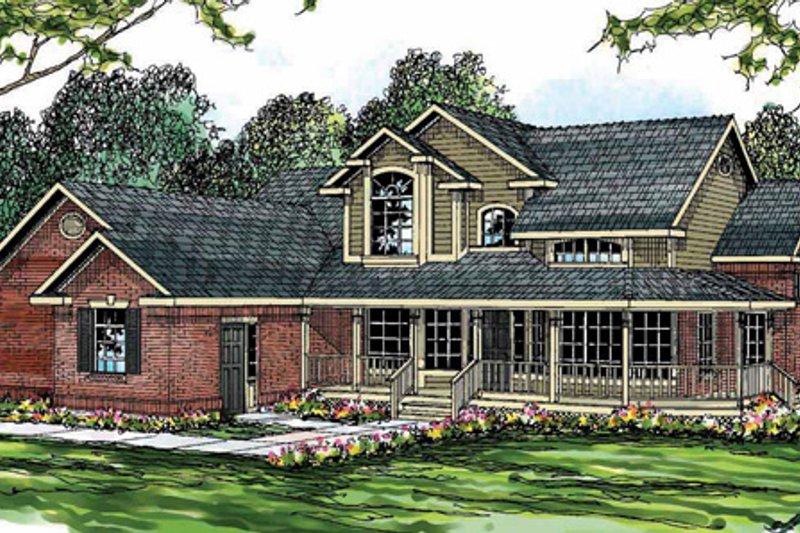 Farmhouse Exterior - Front Elevation Plan #124-189 - Houseplans.com