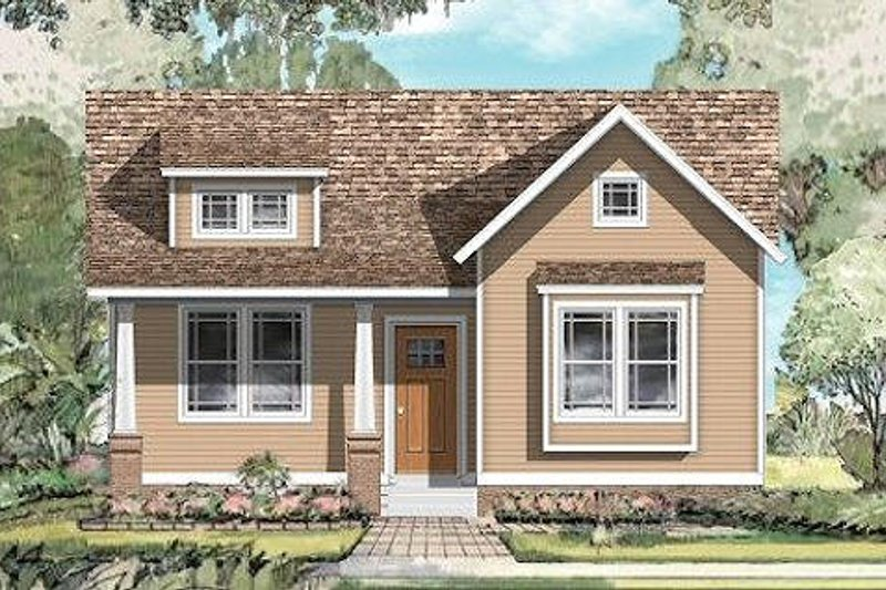 Traditional Style House Plan - 3 Beds 2 Baths 1600 Sq/Ft Plan #424-197 Exterior - Front Elevation