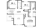Craftsman Style House Plan - 3 Beds 2.5 Baths 2044 Sq/Ft Plan #48-114 Floor Plan - Upper Floor Plan