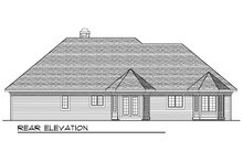European Exterior - Rear Elevation Plan #70-644
