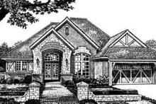 European Exterior - Front Elevation Plan #310-252