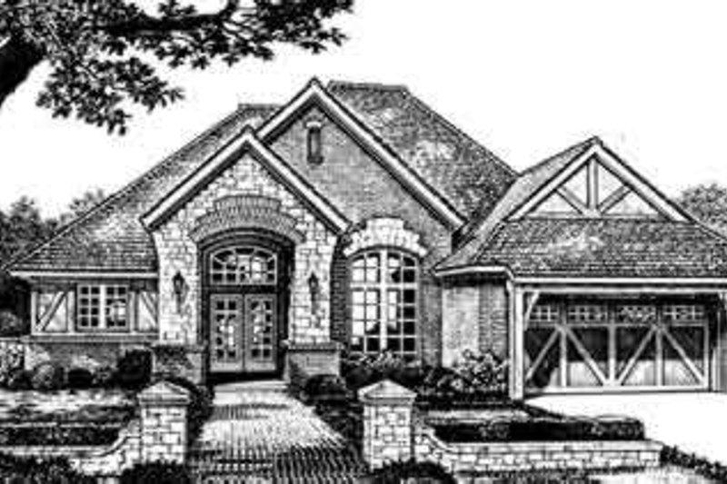 Dream House Plan - European Exterior - Front Elevation Plan #310-252